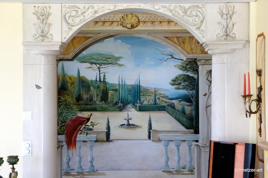 Wandgemälde Ansicht Vom Wohnzimmer