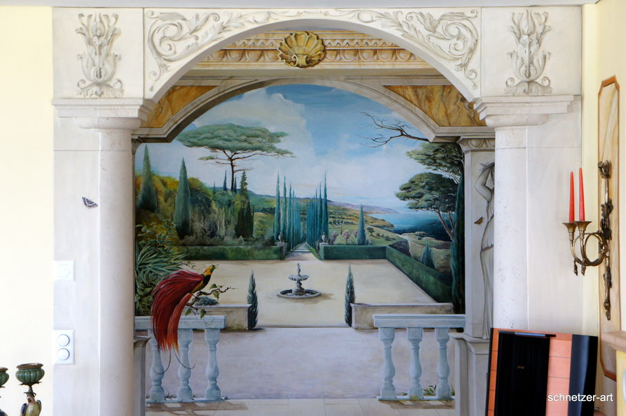 Schnetzer art wandmalerei villa - Wandmalerei wohnzimmer ...